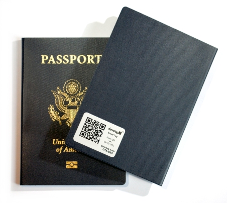 STICKER on passport h