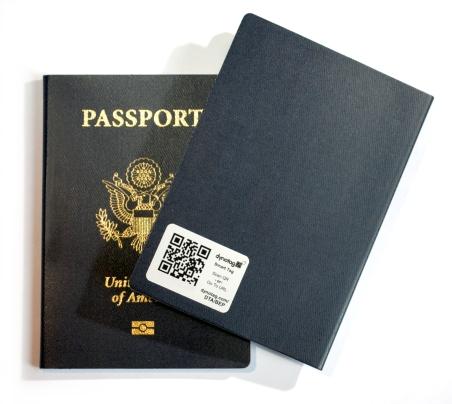 STICKER on passport h